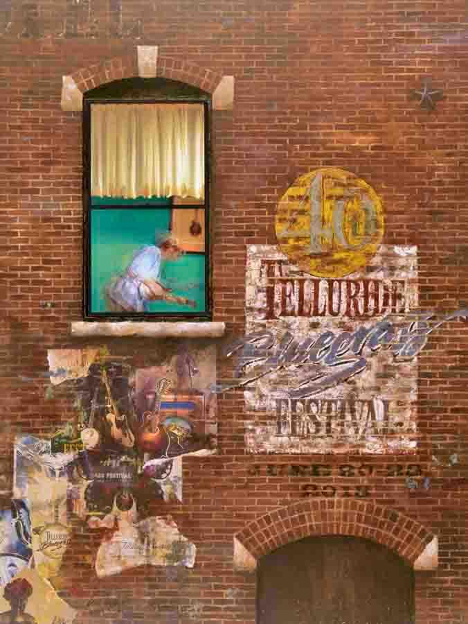 Telluride  Bluegrass festival 40th anniversary poster 2013
