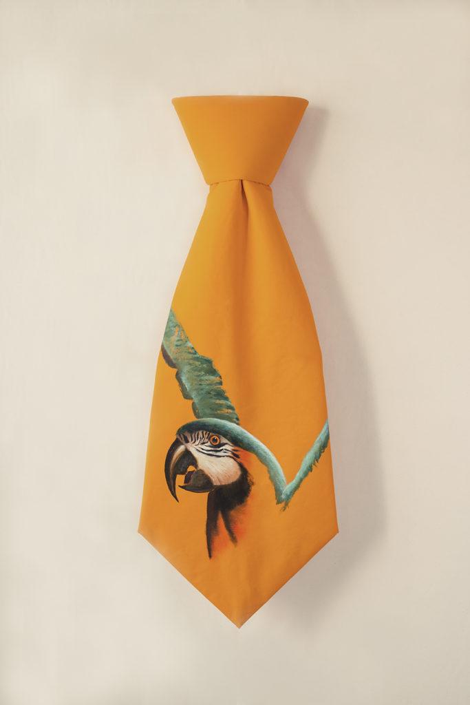 Blue Macaw Tie