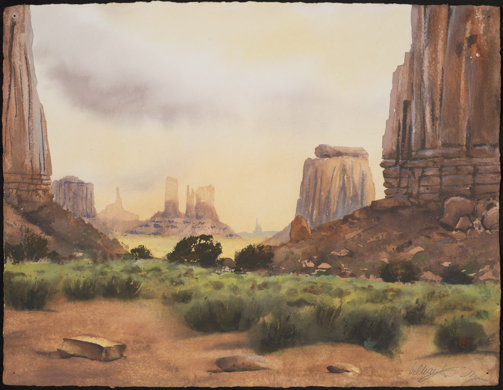 KURT MARKUS AND WILLIAM MATTHEWS- PHOTOGRAPHS AND WATERCOLORS OF MONUMENT VALLEY