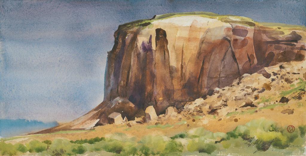 Navajo Cliff Sketch